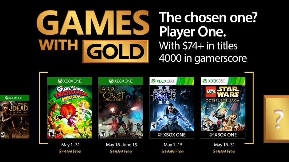 les jeux games with gold mai 2017
