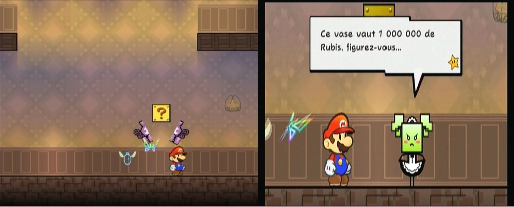 easter eggs zelda super paper mario
