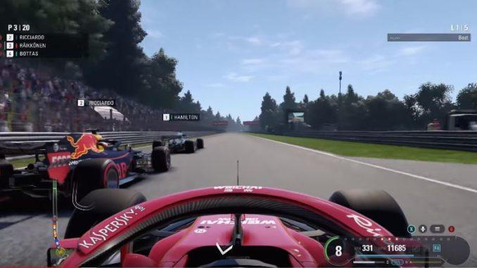 test de F1 2018