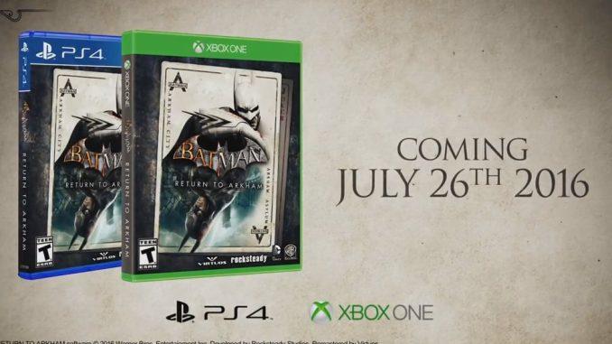 Batman Retour à Arkham