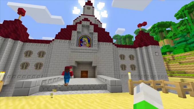 Mario dans Minecraft