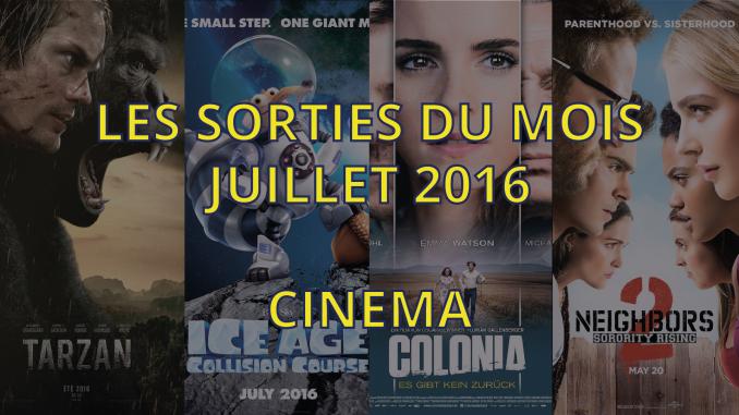 sorties cinéma de juillet 2016