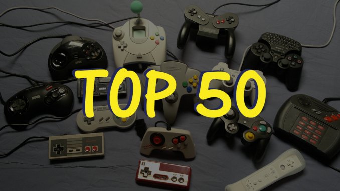 top 50 jeux video