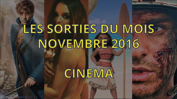Sorties cinéma de novembre 2016