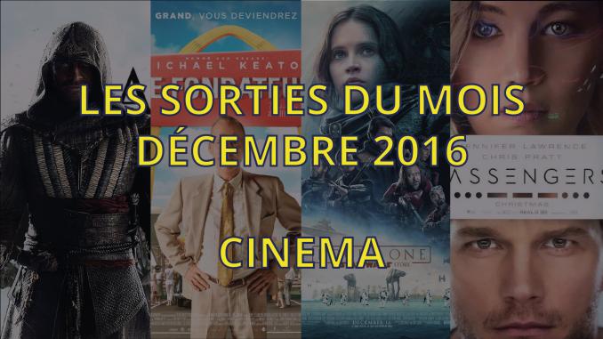 Sorties cinéma de décembre 2016