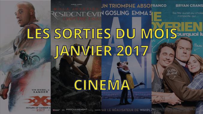 Sorties cinéma de janvier 2017