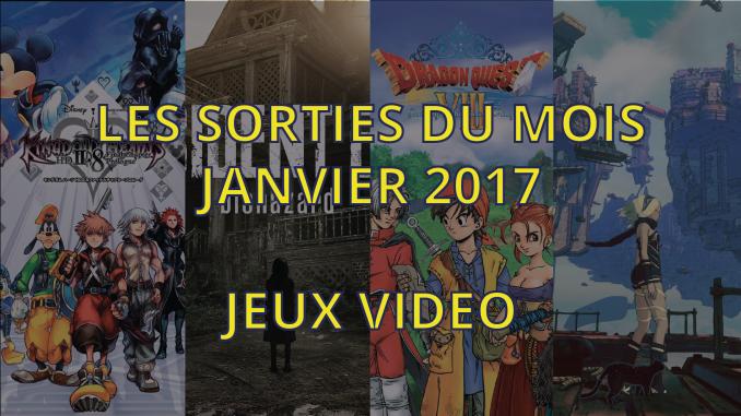Sorties jeux video de janvier 2017