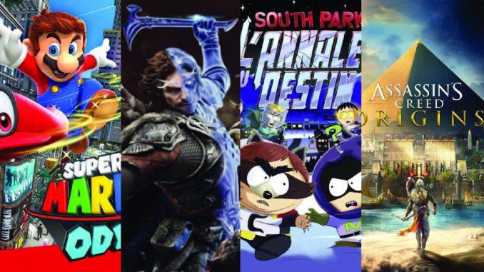 Sorties jeux video d'octobre 2017