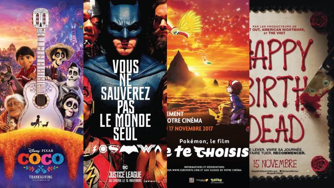 Sorties cinéma de novembre 2017